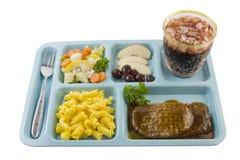 Salisbury steak cafeteria style Stock Image