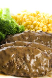 Salisbury steak dinner Royalty Free Stock Photos