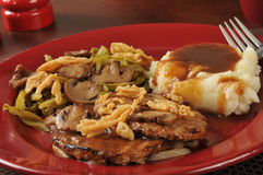 Salisbury steak and mashed potatoes Royalty Free Stock Image