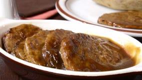 Salisbury Steak stock video footage