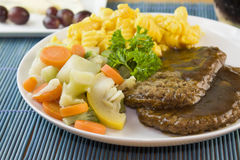Salisbury steak with vegetables Royalty Free Stock Photography
