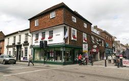Salisbury. UNITED KINGDOM - JUNE 4, 2014: People in the heart of , UK royalty free stock image