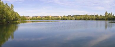 Salish Pond panorama in Fairview Oregon. Royalty Free Stock Photography