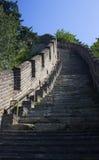 Salita della grande muraglia Fotografia Stock