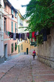 Salita dinegro, genoa, italy Royalty Free Stock Photos