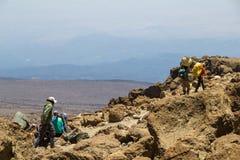 Salita il Kilimanjaro Immagine Stock