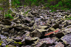 Salita rocciosa la montagna Immagine Stock Libera da Diritti
