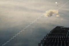 Salita superiore la scala a successo Fotografia Stock