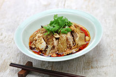Saliva chicken, mouthwatering chicken, China Sichuan cuisine. Saliva chicken, mouthwatering chicken, poached chicken with chili oil sauce, China Sichuan cuisine Royalty Free Stock Images
