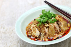 Saliva chicken, mouthwatering chicken, China Sichuan cuisine. Saliva chicken, mouthwatering chicken, poached chicken with chili oil sauce, China Sichuan cuisine Stock Photos