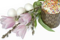 Salix del tulipano del dolce dell'uovo di Pasqua Fotografia Stock