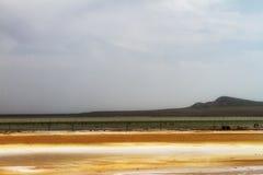 Salk lake Baskunchak landscape royalty free stock images