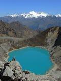 Salkantay印加人足迹,秘鲁 免版税库存照片