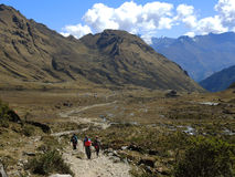 Salkantay Inca Trail dans Cusco, Pérou photos stock