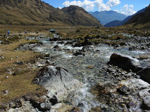 Salkantay Inca Trail, Pérou image libre de droits
