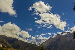 Salkantay snowcapped maximala Cuzco Peru Arkivbilder