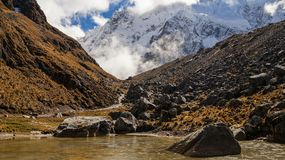 Salkantay Trail in Peru. Hiking on the Salkantay Trail in Peru Royalty Free Stock Images