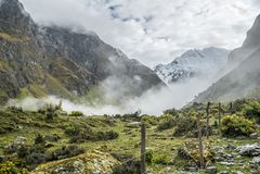 Salkantay Trekking Peru. The road to Machu Pichu Royalty Free Stock Images