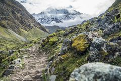 Salkantay Trekking Peru. The road to Machu Pichu Stock Photos