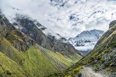 Salkantay Trekking Peru. The road to Machu Pichu Royalty Free Stock Photo