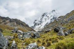 Salkantay Trekking Peru. The road to Machu Pichu Stock Images