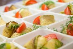 Sallad av den grillade zucchinin Royaltyfri Fotografi