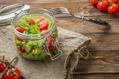 Sallad av grönsaker och havre Royaltyfria Foton