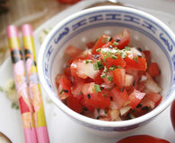 Sallad av tomater Royaltyfri Bild