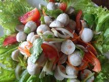 Sallad för fiskboll Royaltyfria Foton