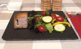 Sallad för grisköttpaj Royaltyfri Foto