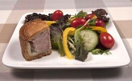 Sallad för grisköttpaj Royaltyfria Bilder