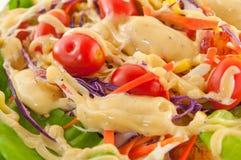 Sallad för ny grönsak för Closeup som isoleras på vit Royaltyfria Foton