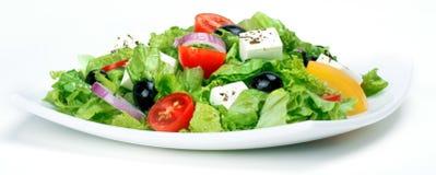Sallad för ny grönsak (grekisk sallad) royaltyfria bilder