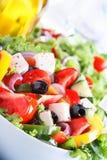 Sallad för ny grönsak (grekisk sallad) Arkivfoto
