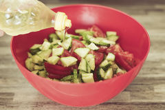 Sallad för ny grönsak, närbild Fotografering för Bildbyråer