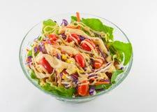 Sallad för ny grönsak som isoleras med pepersås fotografering för bildbyråer