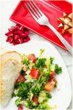 Sallad med nya grönsaker Arkivfoto