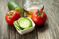 Sallad med tomaten och cucumber Royaltyfria Foton