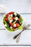 Sallad med tomater och feta Royaltyfria Bilder