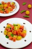 Sallad med vattenmelon Arkivbilder