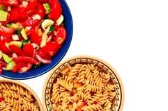 Sallad och pasta Arkivfoton
