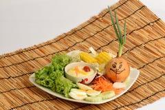 Salladgrönsaker, foods som är healthful royaltyfria bilder