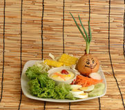 Salladgrönsaker, foods som är healthful arkivbild