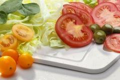 Salladingredienser Arkivfoto
