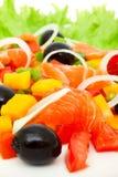 salladlaxgrönsak royaltyfri foto