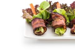 salladrulle med bacon Royaltyfri Bild