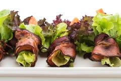salladrulle med bacon Arkivbilder