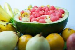Salladvariation av frukt är bra för hälsa Royaltyfri Foto