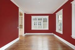 Salle à manger avec les murs rouges Photos libres de droits