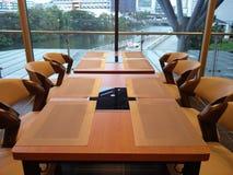 Salle à manger avec une vue Photos stock